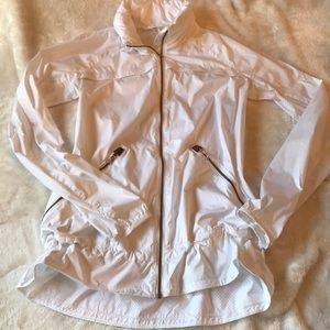 Women's Lululemon White Jacket w/ gold reflective!